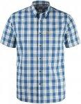 Fjällräven övik Button Down Shirt Short-Sleeve Kariert, Male Kurzarm-Hemd, S