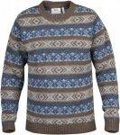 Fjällräven övik Folk Knit Sweater Gestreift, Male Daunen Freizeitpullover, XL