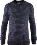 Fjällräven M övik Nordic Sweater Blau | Größe XXL | Herren Freizeitpullover