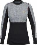 Fjällräven W Bergtagen Woolmesh Sweater Colorblock / Grau / Schwarz | Größe