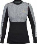 Fjällräven Womens Bergtagen Woolmesh Sweater Schwarz-Grau, L, Damen Oberteil