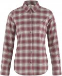 Fjällräven W övik Flannel Shirt Long-Sleeve Kariert / Lila | Größe XL | Dam