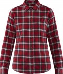 Fjällräven W övik Flannel Shirt Long-Sleeve Kariert / Rot | Größe XS | Dame