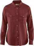 Fjällräven W övik Travel Shirt Long-Sleeve Rot | Damen Hemd