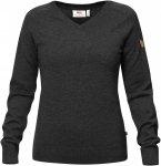 Fjällräven W Sörmland V-Neck Sweater Grau | Größe XS | Damen Freizeitpullov