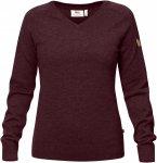 Fjällräven W Sörmland V-Neck Sweater Lila / Rot | Damen Freizeitpullover