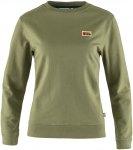 Fjällräven W Vardag Sweater Grün | Größe XS | Damen T-Shirt