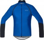 Gore Bike Wear Power Windstopper Softshell Zip-Off Jersey Blau, Male Kurzarm-Shi