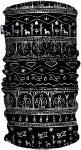 H.a.d. Originals Printed Fleece Tube Schwarz, One Size,Stirnbänder