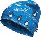 H.A.D. Printed Fleece Beanie Kids Blau, Accessoires, One Size