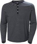 Helly Hansen Fjord Henley Gestreift, Male Langarm-Shirt, L