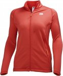 Helly Hansen Vertex Full Zip Stretch Midlayer Rot, Female Fleecejacke, L
