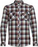 Icebreaker M Lodge LS Flannel Shirt Herren | Blau / Rot | S | +S,L,XL