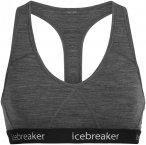 Icebreaker W Sprite Racerback Bra Grau | Größe XS | Damen Unterwäsche