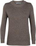 Icebreaker W Waypoint Crewe Sweater Braun | Damen Freizeitpullover