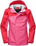 Jack Wolfskin Girls Topaz Texapore Jacket Pink | Größe 92 | Kinder Regenjacke