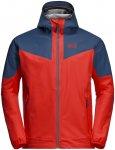 Jack Wolfskin M Alpine Trail Jacket Grau / Rot | Größe XXL | Herren Softshellj