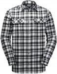 Jack Wolfskin M BOW Valley Shirt Kariert / Schwarz | Größe XL | Herren Langarm