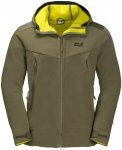 Jack Wolfskin Mens Chinook Jacket Grün, L, Herren Fleece Jacke ▶ %SALE 30%