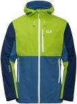 Jack Wolfskin M Eagle Peak Jacket Blau / Grün | Herren Regenjacke