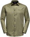 Jack Wolfskin M Lakeside Roll-Up Shirt Oliv | Größe XXL | Herren Hemd