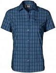 Jack Wolfskin Centaura Stretch Vent Shirt Blau, Female Kurzarm-Hemd, XL