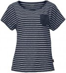 Jack Wolfskin Travel Striped T Blau, Female Kurzarm-Shirt, M