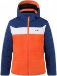 Kjus Boys Downforce Jacket Blau / Orange | Größe 116 | Herren Regenjacke