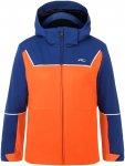 Kjus Boys Speed Reader Jacket Colorblock / Blau / Orange | Größe 128 | Herren