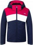 Kjus Girls Mila Jacket Colorblock / Blau / Rot / Weiß | Größe 140 | Damen Reg