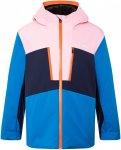 Kjus Juniors Snow Rock Jacket Colorblock / Blau / Pink   Größe 140    Regenjac