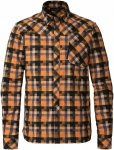 Kjus Men FRX Shirt Orange-Schwarz, 48, Herren Langarm-Hemd ▶ %SALE 45%