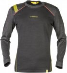 La Sportiva Stratosphere Long Sleeve Schwarz, Male Merino Langarm-Shirt, XXL