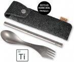 Light my Fire Spork'n Straw KIT Titanium Grau | Größe One Size |  Geschirr & B