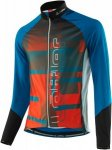 Löffler Mens Bike Langarmtrikot Airbrush Full-Zip Blau-Orange, 56, Herren Langa