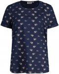 Maloja W Satwegiam. Bluse Blau | Damen T-Shirt