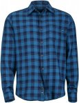 Marmot Bodega Flannel Long-Sleeve, Denim Kariert, L