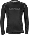 Marmot Windridge With Graphic Long-Sleeve Schwarz, Male L -Farbe Black -Cinder,