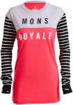 Mons Royale Merino Womens Boyfriend Long-Sleeve Pink, L, Damen Langarm-Shirt ▶