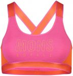 Mons Royale Merino W Stella X-Back Bra Pink   Damen Unterwäsche