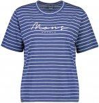 Mons Royale Merino W Suki BF Tee Gestreift / Blau / Weiß | Damen T-Shirt