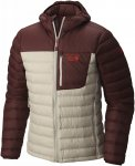 Mountain Hardwear M Dynotherm Down Hooded Jacket Colorblock / Rot / Weiß | Grö