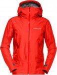 Norrona Womens Falketind Gore-Tex Jacket Rot, S, Damen Freizeitjacke