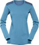 Norrona Falketind Super Wool Shirt Blau, Female Merino Kurzarm-Shirt, M