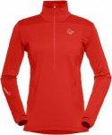 Norrona Falketind Warm1 Stretch Sweater Rot, Female Polartec® Freizeitpullover,