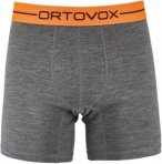 Ortovox 185 Rock'n'wool Boxer Grau, Male Merino Unterwäsche, S