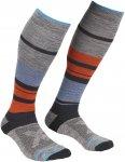 Ortovox M All Mountain Long Warm Socks Gestreift / Grau | Größe 42 - 44 | Herr