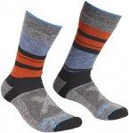 Ortovox M All Mountain Mid Warm Socks Gestreift / Grau   Größe 39 - 41   Herre