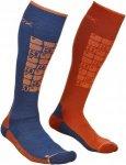 Ortovox Merino Socks Ski Compression Orange, Male Merino Ski-& Snowboardocken, 4