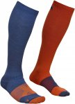 Ortovox M Merino Socks Tour Compression Blau / Orange | Größe 45 - 47 | Herren